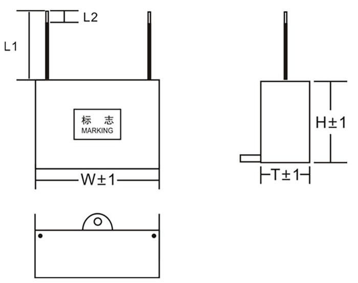 CBB61电容器外形尺寸图