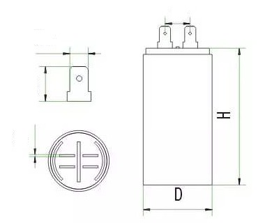 水泵电容器外形结构图